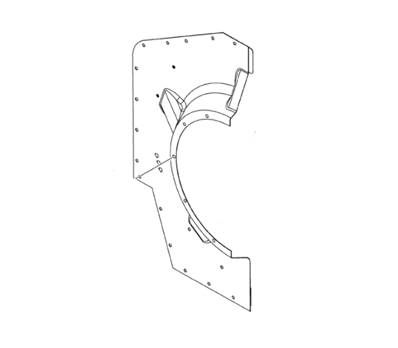 HALF FIREWALL,RIGHT REAR |PN: 0319990080