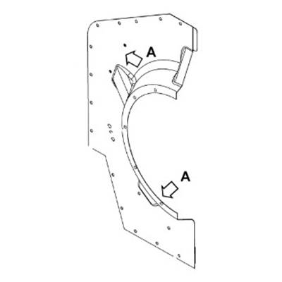 HALF FIREWALL,RIGHT REAR |PN: 0319997070-REV
